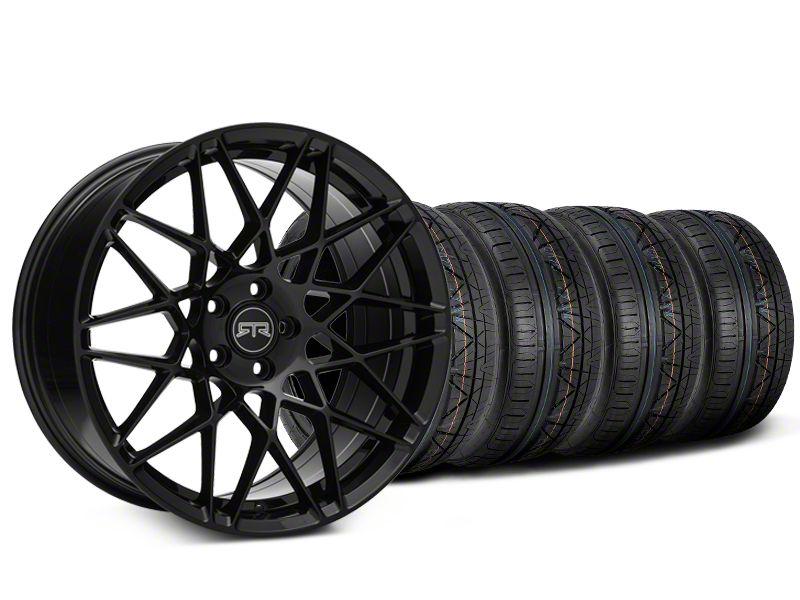 Staggered RTR Tech Mesh Black Wheel & NITTO INVO Tire Kit - 19x9.5/10.5 (15-19 GT, EcoBoost, V6)