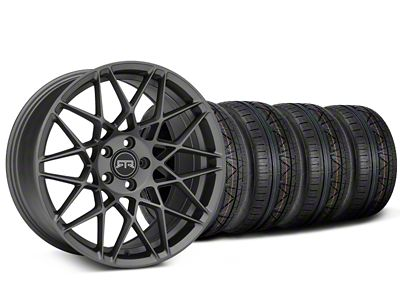 Staggered RTR Tech Mesh Charcoal Wheel & NITTO INVO Tire Kit - 19x9.5/10.5 (15-19 GT, EcoBoost, V6)