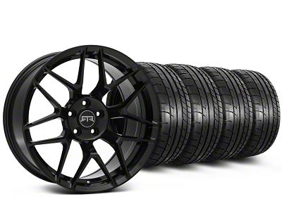 Staggered RTR Tech 7 Black Wheel & Mickey Thompson Tire Kit - 19x9.5/10.5 (15-18 GT, EcoBoost, V6)