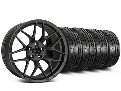 Staggered RTR Tech 7 Charcoal Wheel & Mickey Thompson Tire Kit - 19x9.5/10.5 (15-19 GT, EcoBoost, V6)