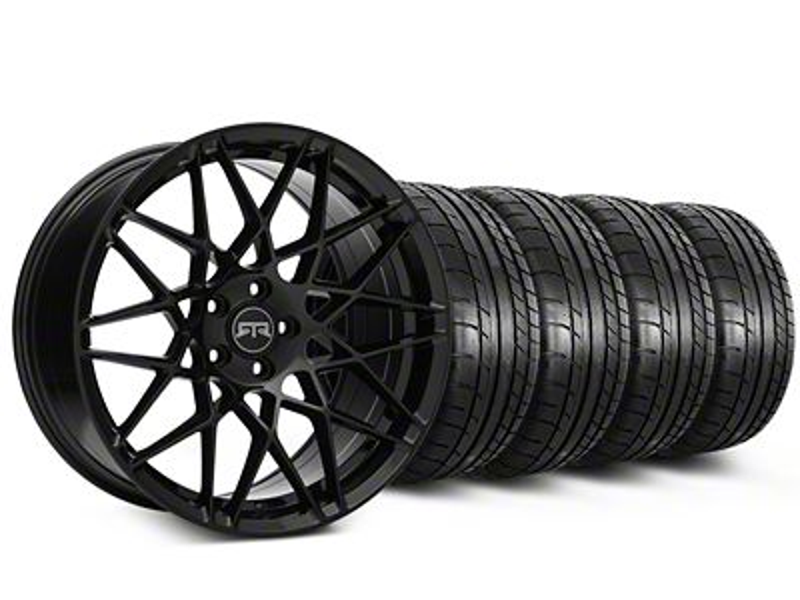 Staggered RTR Tech Mesh Black Wheel & Mickey Thompson Tire Kit - 19x9.5/10.5 (15-19 GT, EcoBoost, V6)