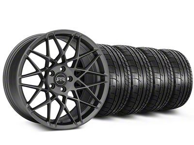 Staggered RTR Tech Mesh Charcoal Wheel & Mickey Thompson Tire Kit - 19x9.5/10.5 (15-19 GT, EcoBoost, V6)