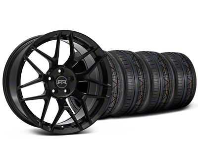 Staggered RTR Tech 7 Black Wheel & NITTO INVO Tire Kit - 20x9.5/10.5 (15-19 GT, EcoBoost, V6)