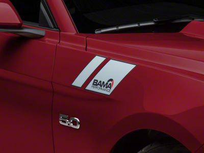 American Muscle Graphics Silver Hash Marks w/ Bama Logo (15-19 All)