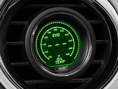 Dual Color Digital Oil Temp Gauge - Electrical - Green/White (79-19 All)