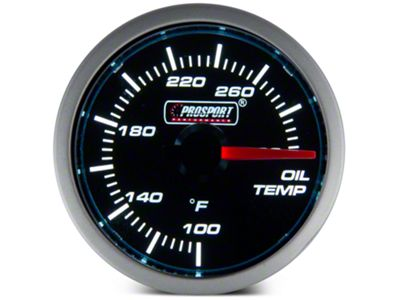 Dual Color Oil Temp Gauge - Electrical - Blue/White (79-19 All)