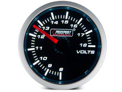 Dual Color Voltmeter Gauge - Electrical - Blue/White (79-19 All)