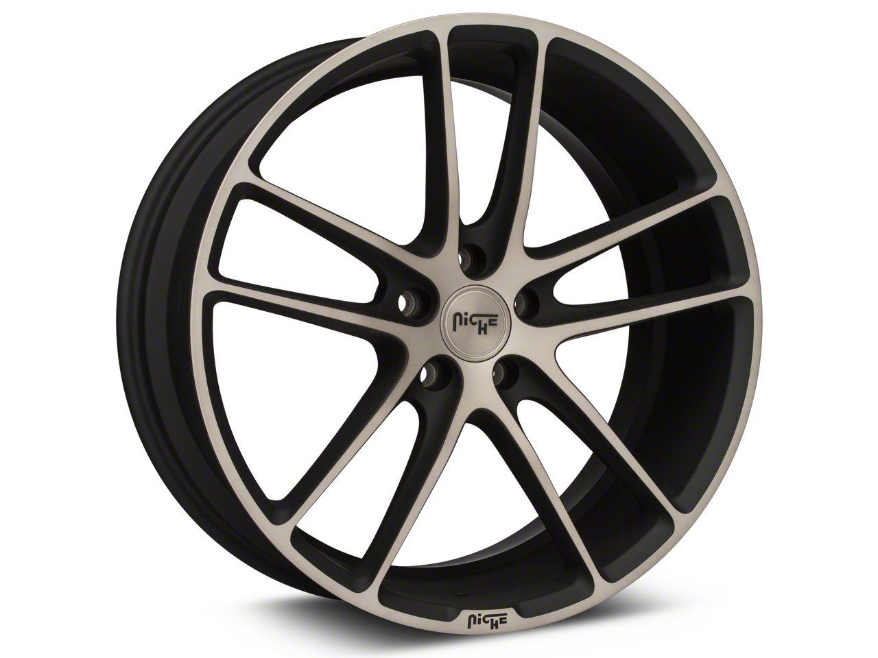 Niche Enyo Black Machined Wheel - 20x8.5 (15-19 GT, EcoBoost, V6)
