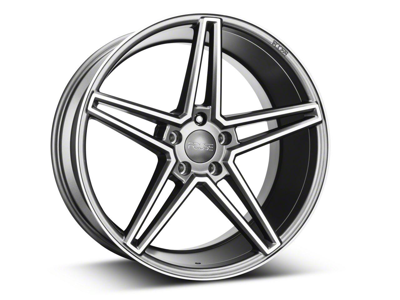 Foose Sport Charcoal Wheel - 20x10 (15-19 GT, EcoBoost, V6)
