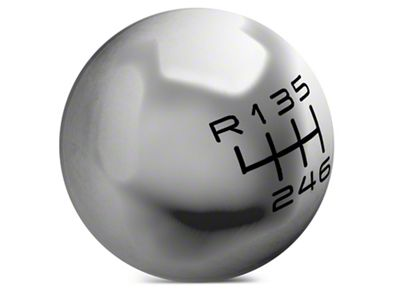 Modern Billet Retro Style 6-Speed Shift Knob - Polished (15-19 GT, EcoBoost, V6)