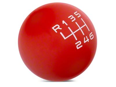 Modern Billet Retro Style 6-Speed Shift Knob - Red (15-19 GT, EcoBoost, V6)