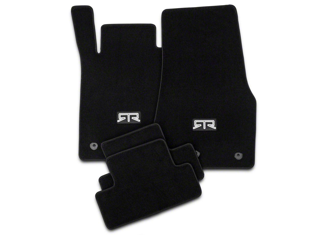 RTR Front & Rear Floor Mats w/ RTR Logo - Black (13-14 All)