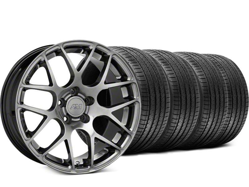 AMR Dark Stainless Wheel & Sumitomo Tire Kit - 18x8 (94-04 All)