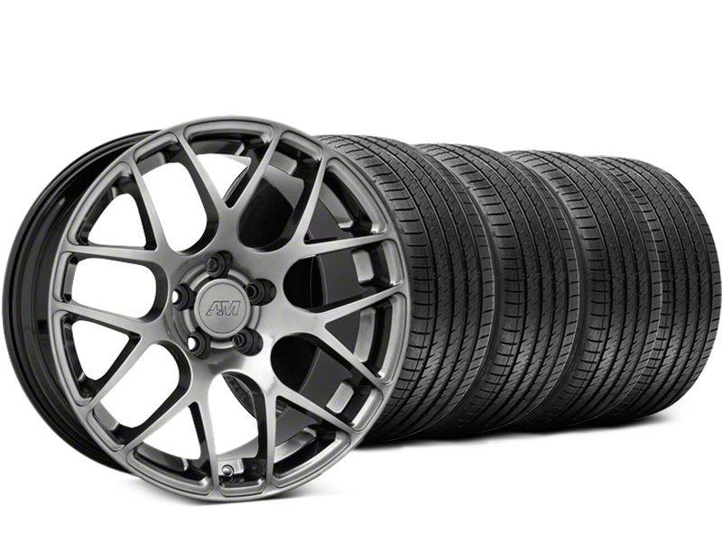 AMR Dark Stainless Wheel & Sumitomo Tire Kit - 18x9 (05-14 All)