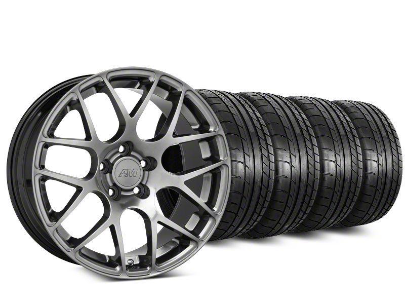 AMR Dark Stainless Wheel & Mickey Thompson Tire Kit - 19x8.5 (15-19 GT, EcoBoost, V6)
