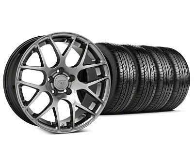 AMR Dark Stainless Wheel & Pirelli Tire Kit - 19x8.5 (15-19 GT, EcoBoost, V6)