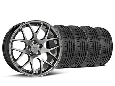 AMR Dark Stainless Wheel & Sumitomo Tire Kit - 19x8.5 (05-14 All)