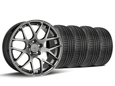 AMR Dark Stainless Wheel & Sumitomo Tire Kit - 19x8.5 (15-19 GT, EcoBoost, V6)