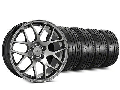 AMR Dark Stainless Wheel & Mickey Thompson Tire Kit - 20x8.5 (15-19 GT, EcoBoost, V6)