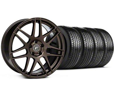 Staggered Forgestar F14 Bronze Burst Wheel & Pirelli Tire Kit - 19x9/10 (05-14 All)