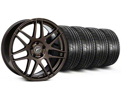 Staggered Forgestar F14 Bronze Burst Wheel & Mickey Thompson Tire Kit - 19x9/10 (05-14 All)