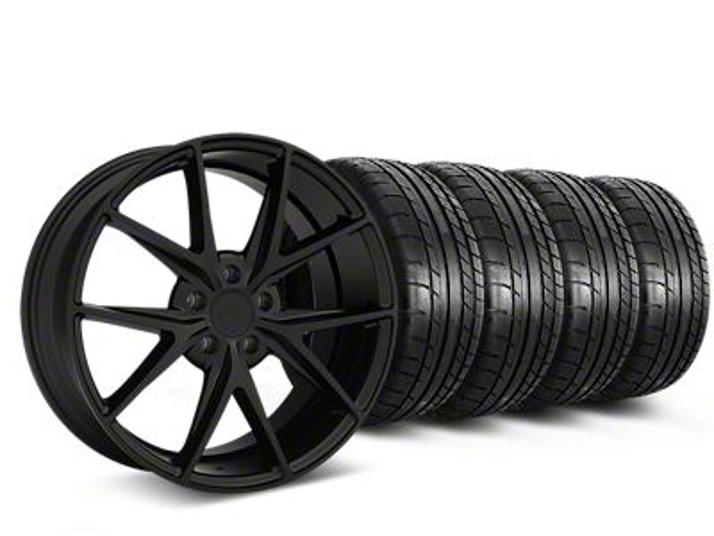 Niche Misano Matte Black Wheel & Mickey Thompson Tire Kit - 19x8.5 (15-19 All)