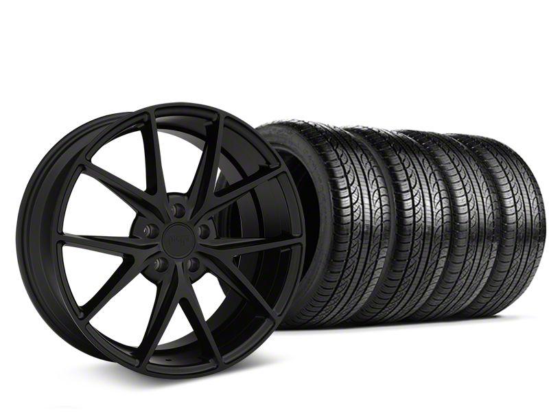 Niche Misano Matte Black Wheel & Pirelli Tire Kit - 19x8.5 (15-19 All)