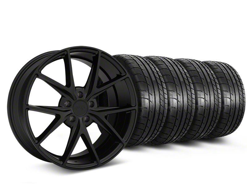 Niche Misano Matte Black Wheel & Mickey Thompson Tire Kit - 19x9.5 (15-19 All)