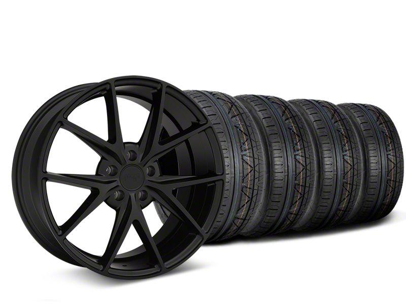 Niche Misano Matte Black Wheel & NITTO INVO Tire Kit - 19x9.5 (15-19 All)