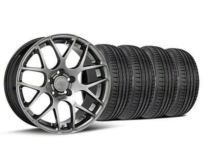 Staggered AMR Dark Stainless Wheel & Sumitomo Tire Kit - 19x8.5/11 (05-14 All)