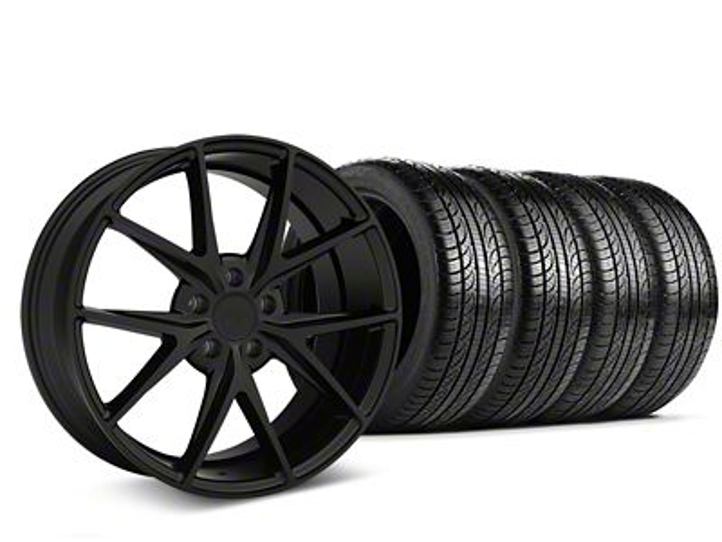 Staggered Niche Misano Matte Black Wheel & Pirelli Tire Kit - 19x8.5/9.5 (05-14 All)