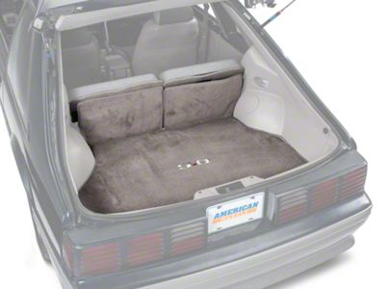 OPR Replacement Hatch Carpet w/ 5.0 Logo - Smoke Gray (87-89 Hatchback)
