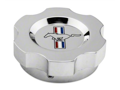 Modern Billet Chrome Brake Fluid Cap Cover - Tri-Bar Logo (05-19 GT, V6; 15-19 EcoBoost)