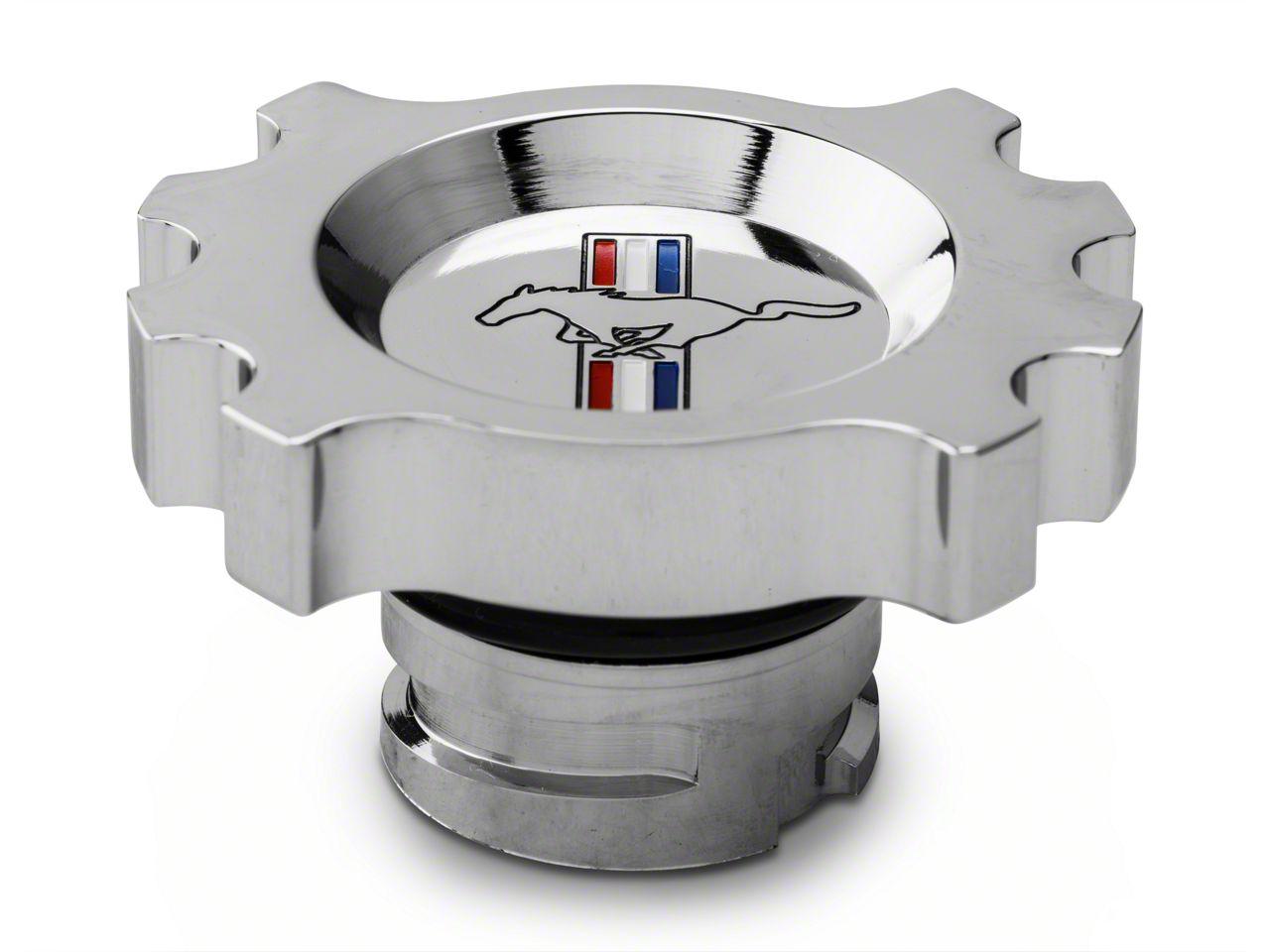 Modern Billet Chrome Oil Cap - Tri-Bar Logo (05-17 GT, V6)