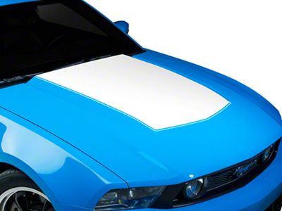 American Muscle Graphics White Single Hood Stripe (10-12 GT, V6)