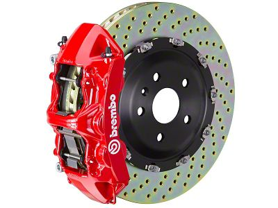 Brembo GT Series 6-Piston Front Brake Kit - 15 in. Drilled Rotors - Red (15-19 All)