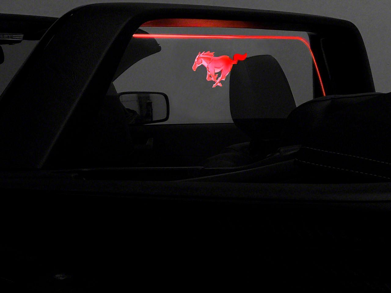 SpeedForm Laser Engraved Wind Deflector w/ Illumination - Running Pony (05-09 All)
