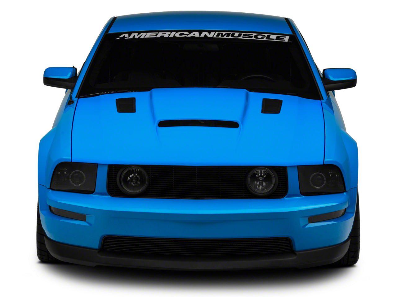 Cervini's Stalker II Hood w/ Louvers - Unpainted (05-09 GT, V6)