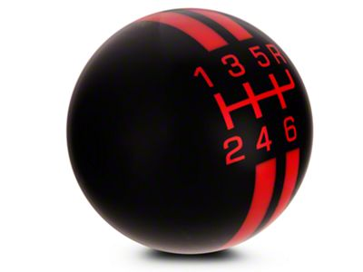 Modern Billet Rally Stripe 6-Speed Shift Knob - Black/Red (07-09 GT500)