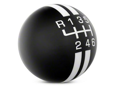 Modern Billet Rally Stripe 6-Speed Shift Knob - Black/White (11-14 GT, V6)