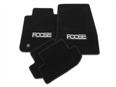 Front & Rear Floor Mats w/ FOOSE Logo - Black (15-19 All)