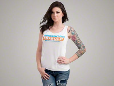 AmericanMuscle White Tank Top - Women