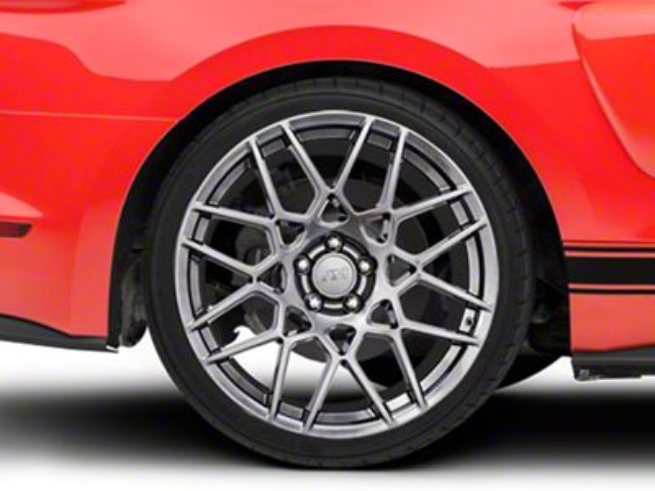 2013 GT500 Style Hyper Dark Wheel - 20x10 - Rear Only (15-19 All)