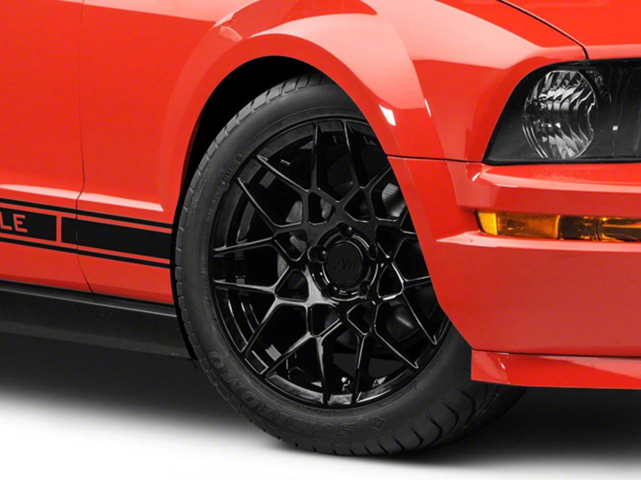 2013 GT500 Style Gloss Black Wheel - 18x9 (05-14 GT, V6)