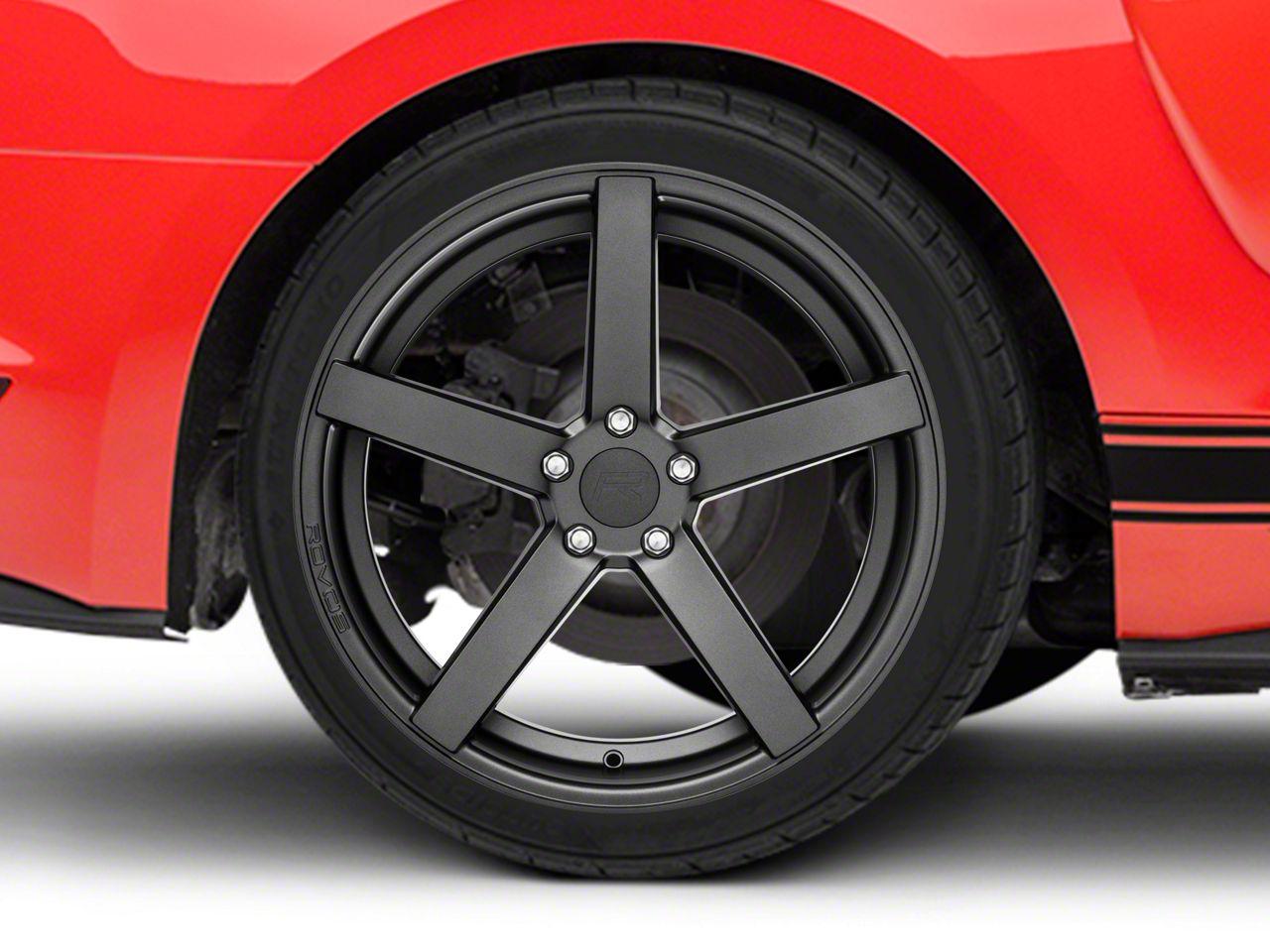 Rovos Durban Satin Gunmetal Wheel - 20x10 - Rear Only (15-19 GT, EcoBoost, V6)