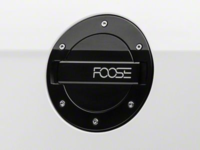MMD by FOOSE Black Billet Aluminum Fuel Door w/ FOOSE Logo (10-14 All)