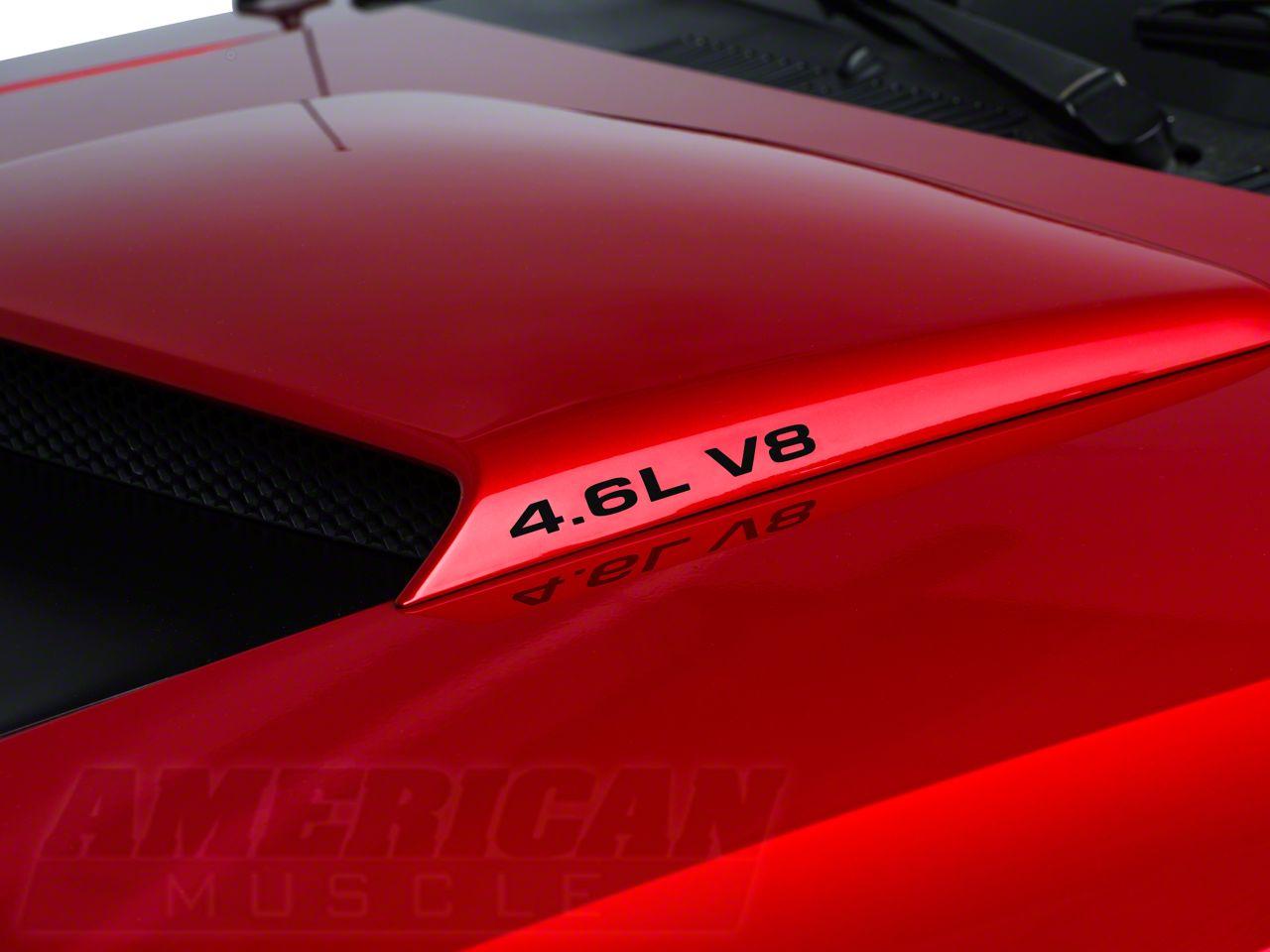 American Muscle Graphics 4.6L V8 Hood Scoop Decals - Black (96-04 GT)