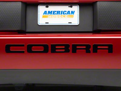 American Muscle Graphics Black Vinyl Bumper Insert Letters (03-04 Cobra)