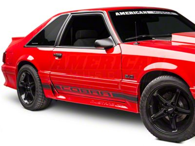 American Muscle Graphics Matte Black Rocker Stripes w/ Cobra Lettering (79-93 All)