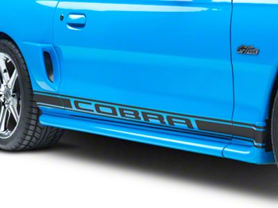 American Muscle Graphics Matte Black Rocker Stripes w/ Cobra Lettering (94-04 All)